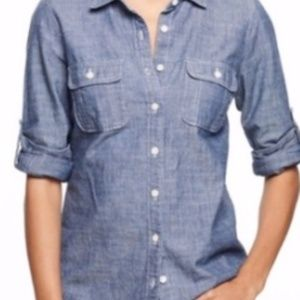 J.crew  the perfect shirt chambray
